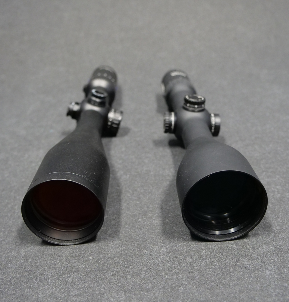 Zeiss Conquest V4 3-12x56 (on the left) vs Steiner Ranger 3-12x56 (on the right)